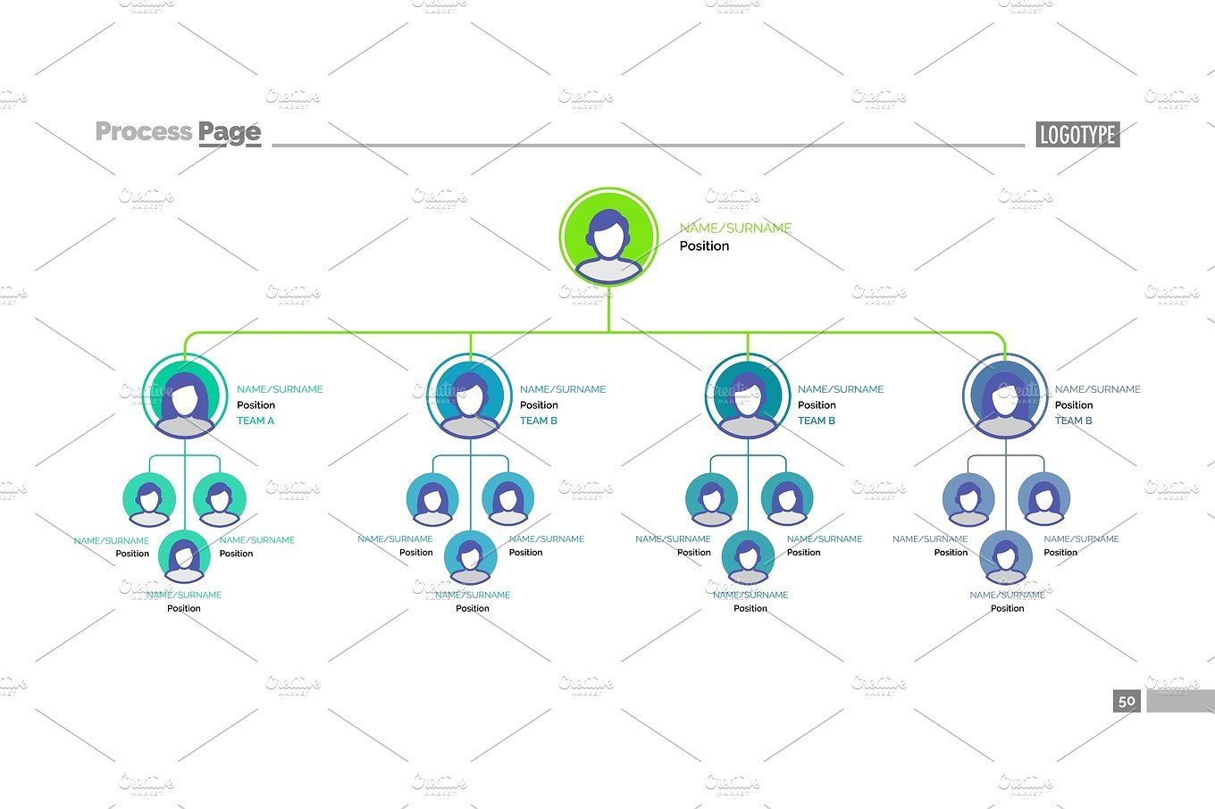 Company Tree Structure Slide Template Tree Structure Company
