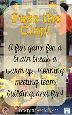 Pass the Clap - A Fun Game! This is a game with many benefits in the classroom, and plenty of giggles, too!