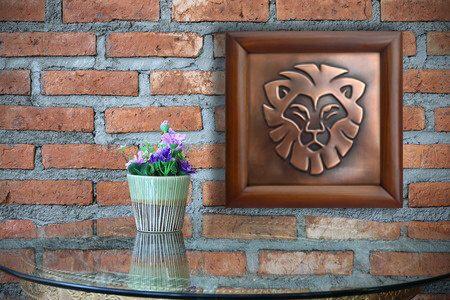 Leo Zodiac Sign Copper Relief Of Leo Zodiac Symbol Lion Wall Art Lion Symbol Leo Lion Wall Art Copper Wall Art Zodiac Art