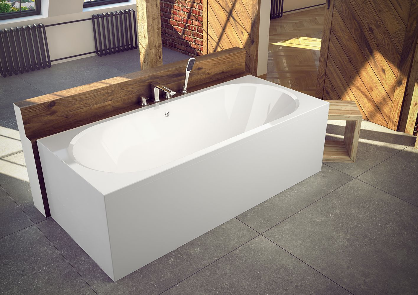 Wanna Prostokatna Vitae Besco Besco Corner Bathtub Bathtub Modern Design