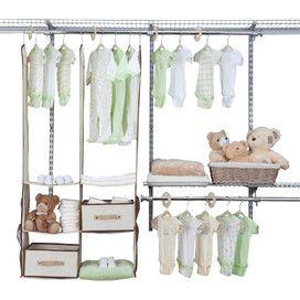 24 Piece Nursery Closet Organizer Set In Beige