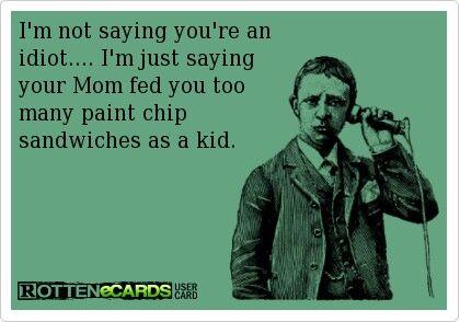 Paint chip sandwiches