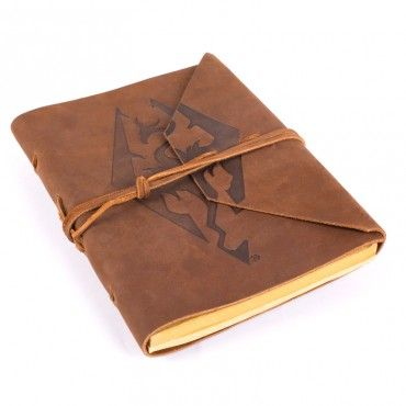 The Bethesda Store Imperial Dragon Symbol Leather Notebook The