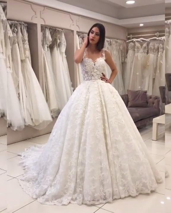 Photo of New ball gown wedding dresses Elegant wedding dresses 2019 60% discount