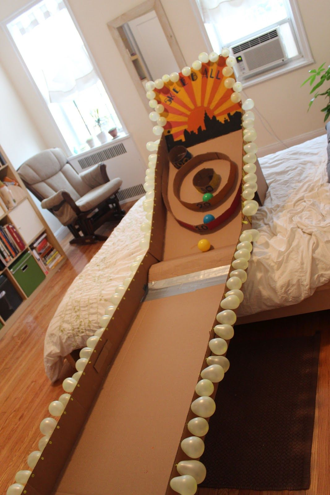 DIY : Cardboard Skeeball! | Kids Stuff | Pinterest | Diy cardboard ...