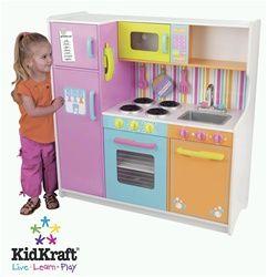 Kidkraft Deluxe Big & Bright Kitchen 53100 | Kidkraft ...