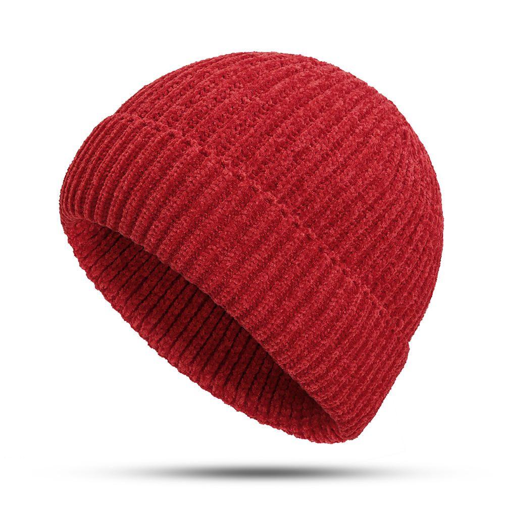 0699b8628c06a Women Girls Winter Chic Street Hip-Hop Hat Rolled Cuff Knit Melon Cap  Beanie Skullcap