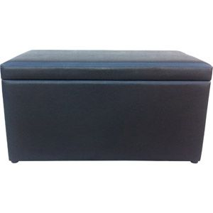 Superb Mainstays Faux Leather Storage Bench Brown 39 At Walmart Squirreltailoven Fun Painted Chair Ideas Images Squirreltailovenorg