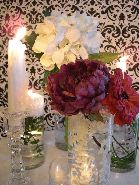 Deco Dots #Deco_Dots #flowers #brides #dining #floral_arrangements #centerpieces #color