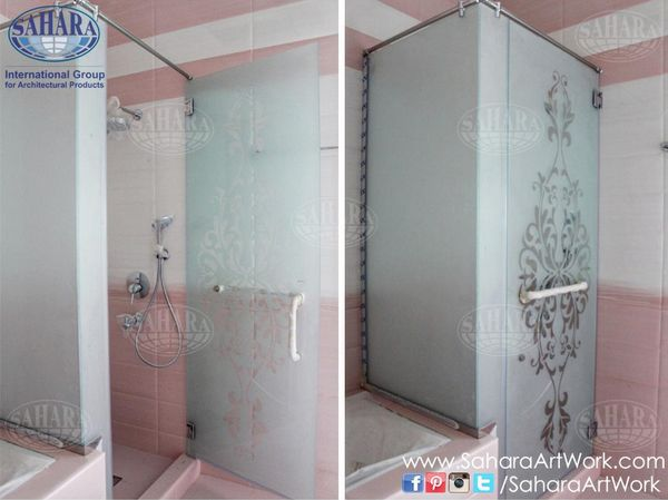 frosted glass shower enclosure. Another Shower Enclosure Made From Frosted Glass With Clear Classic Design.