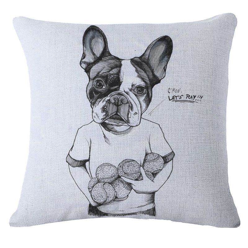 French Bulldog Decorative Throw Pillow Covers Pillows