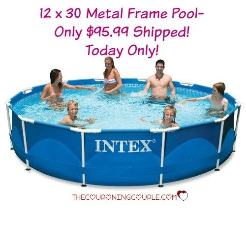12x30 Metal Frame Pool Only 95 99 Shipped Today Only Best Above Ground Pool Pool Intex