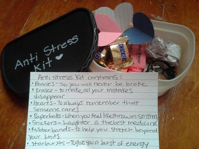 Anti Stress Stress Relief Survival Kit Ideas Pinterest