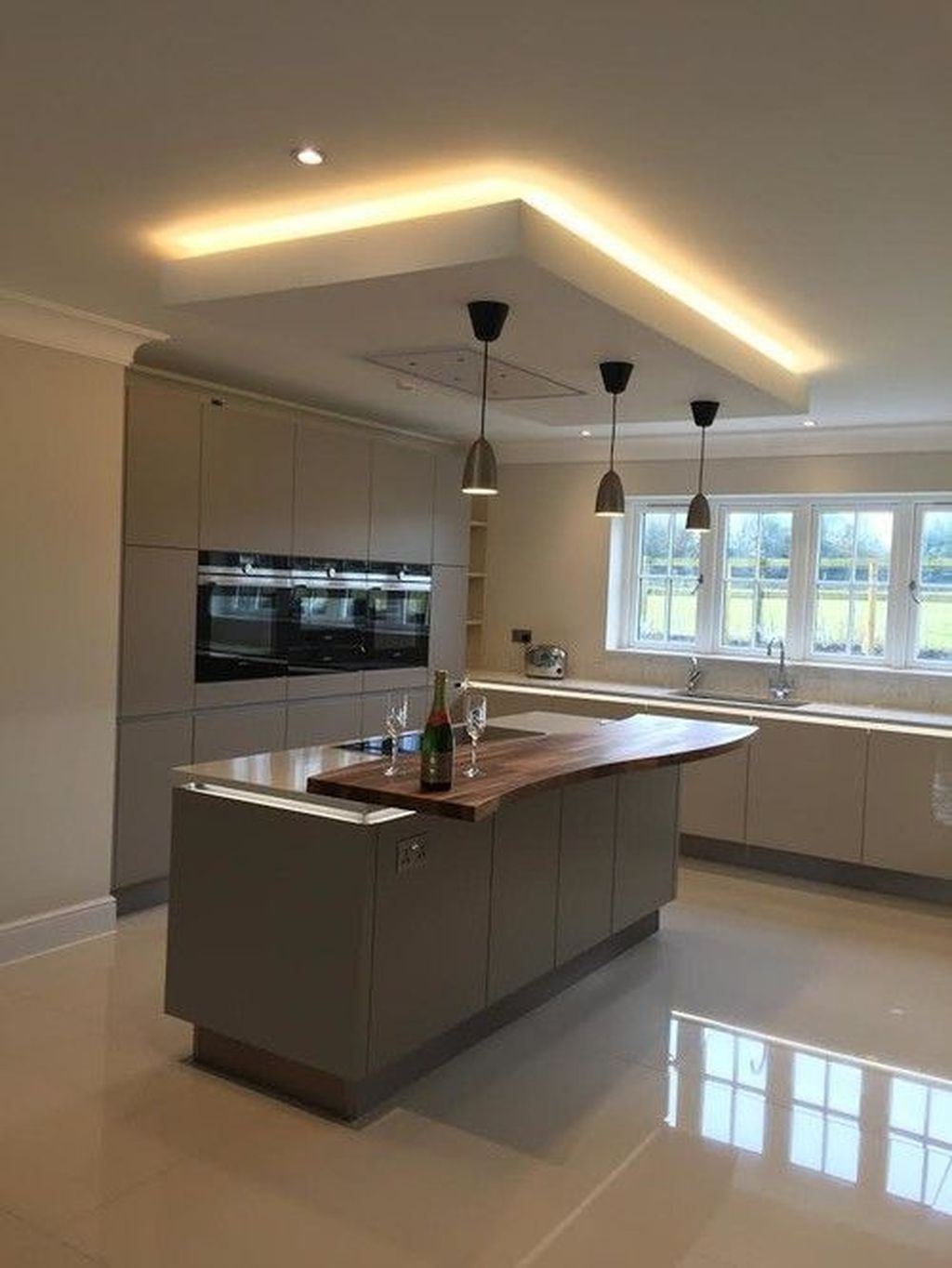 40 Affordable Ceiling Design Ideas With Decorative Lamp Kitchen