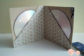 Champion crafts: pap porta cd dvd com papel de scrap idées de