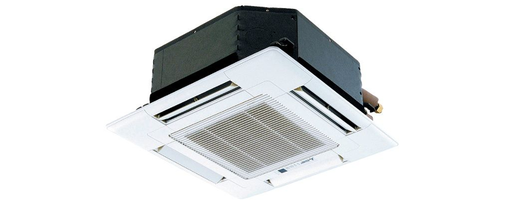 Ceiling Recessed Ductless Heat Pump System Basement Bathroom Design