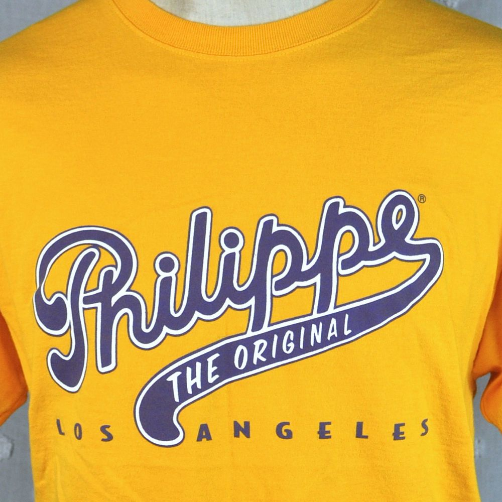 Philippe The Original LA Lakers Large T-Shirt French Dipped Sandwich Los Angeles #Hanes #GraphicTee