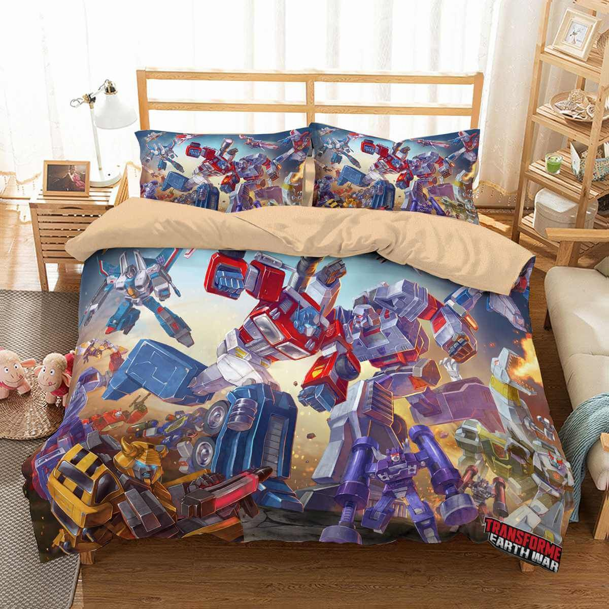Bettwäsche Transformers 3d Customize Transformers Earth Wars Bedding Set Duvet Cover Set Bedroom Set Bedlinen | Duvet Bedding Sets, Bedding Sets, Duvet Cover Sets