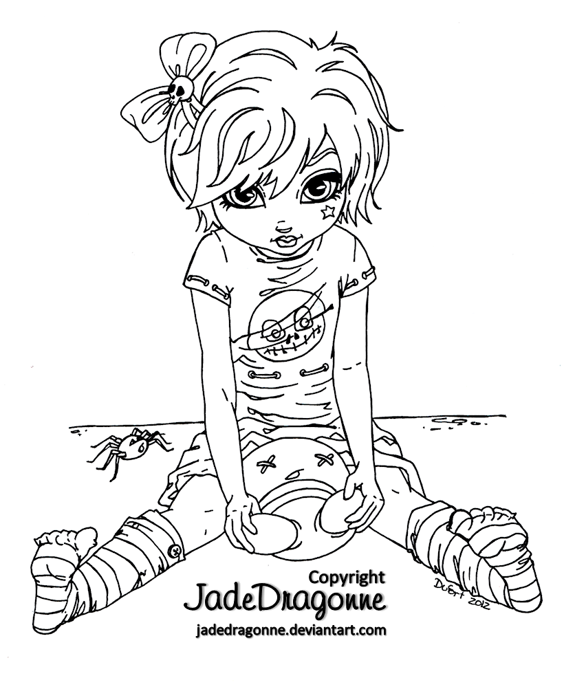Gothic Doll - Lineart by *JadeDragonne on deviantART | print ...