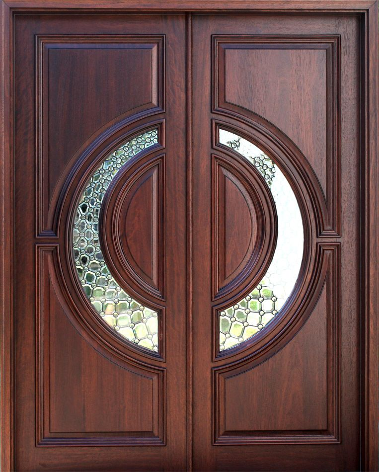 Wood doors front doors entry doors exterior doors for for Double wood doors with glass