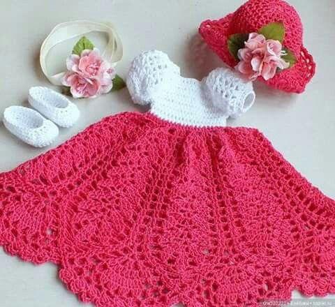 Pin de yolanda acuna en Crochet Baby Dresses | Pinterest | Vestido ...