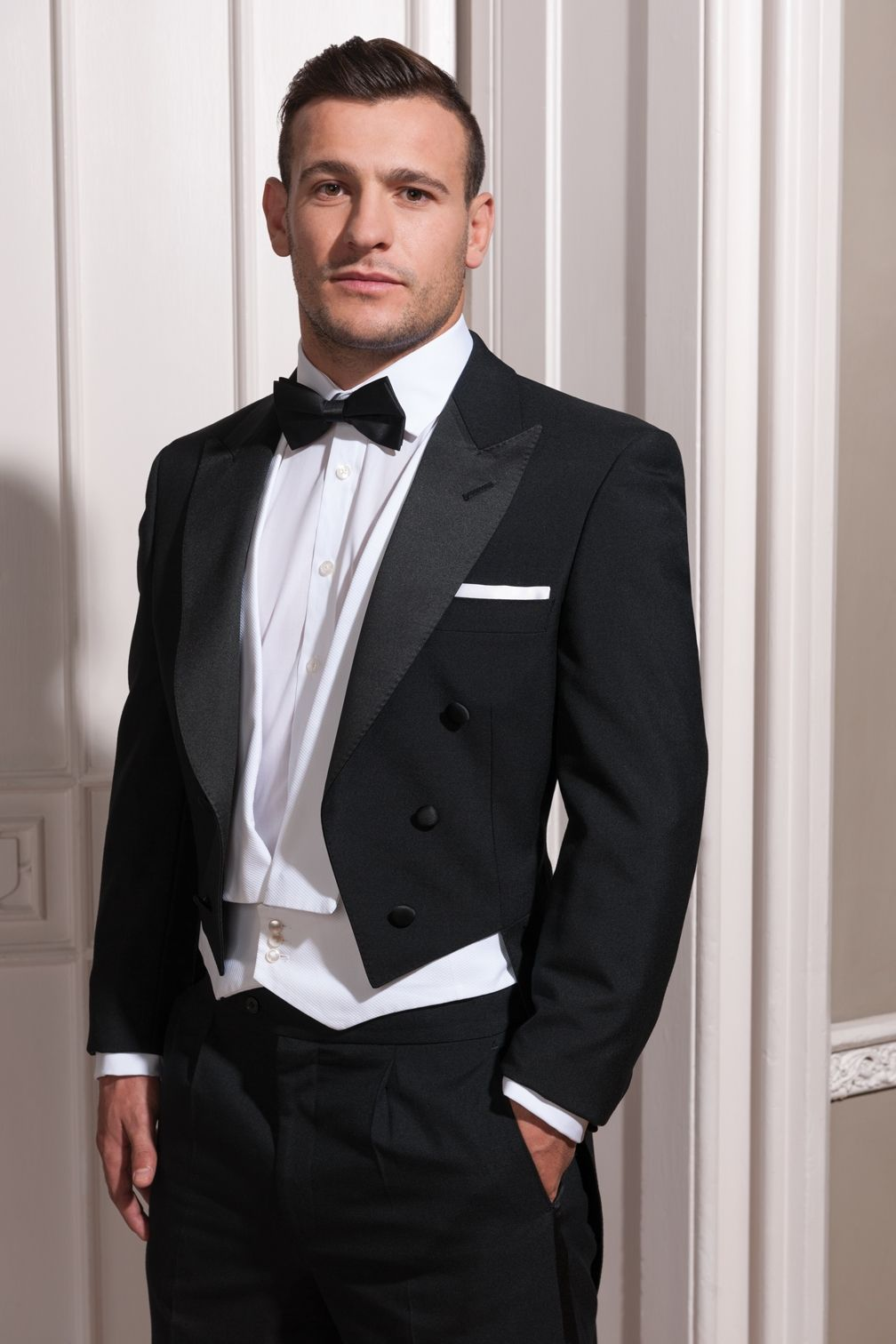 English Rugby Union Player Daniel Care Wearing Austin Reed Hirewear Tuxedo For Men Gq Mens Style Mens Evening Wear