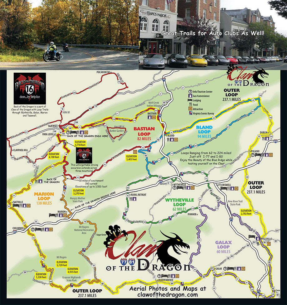 Claw Of The Dragon Drive Virginia Bike Trips Motorcycle Travel