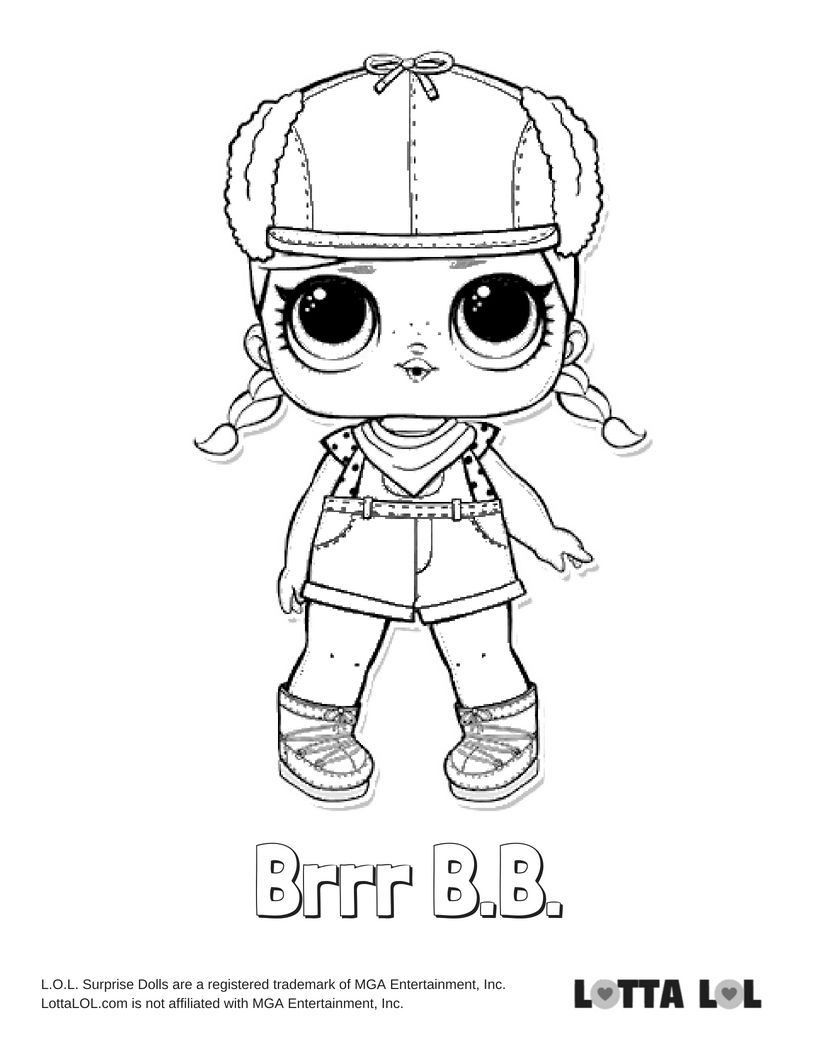 Brrr Bb Coloring Page Lotta Lol Coloring Pages Lol Dolls Kids