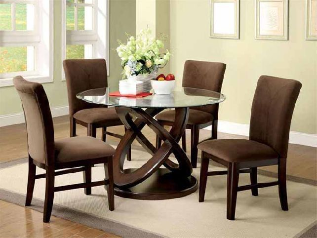 Round Glass Top Dining Table Round Glass Dining Table For Small