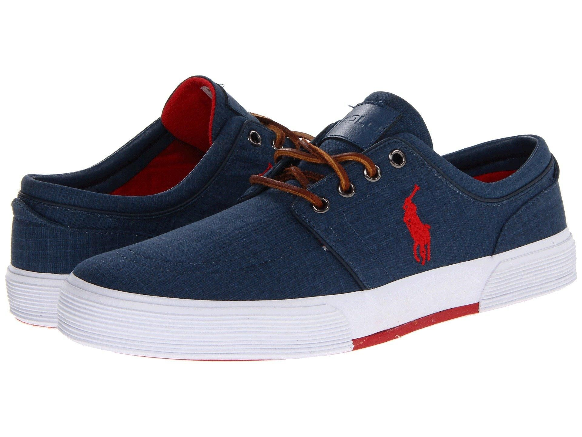 Polo Ralph Lauren Boys Vaughn II Lace Up Sneakers (Youth