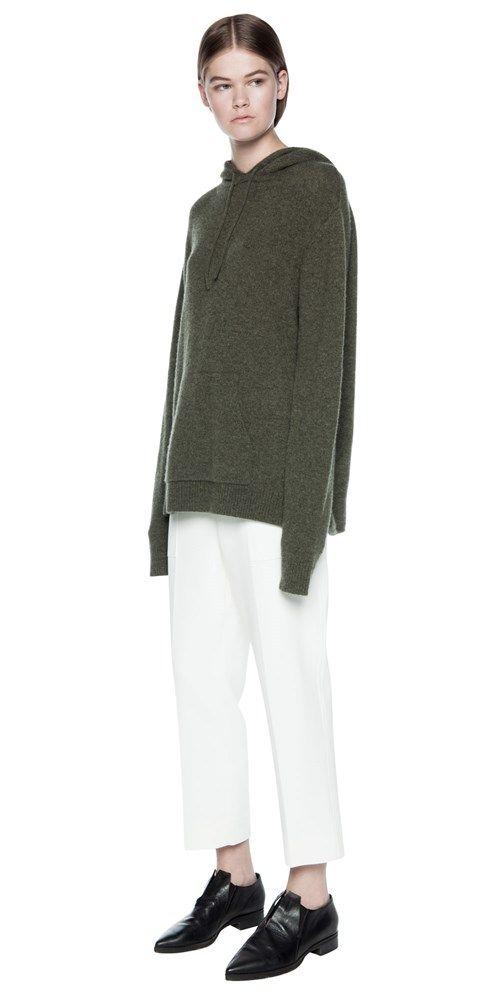 Knitwear | CASHMERE LOOP BACK HOODIE
