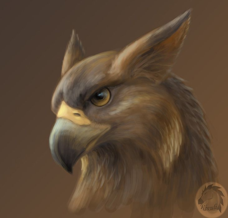 Gryphon portrait by Kivuli.deviantart.com on @deviantART