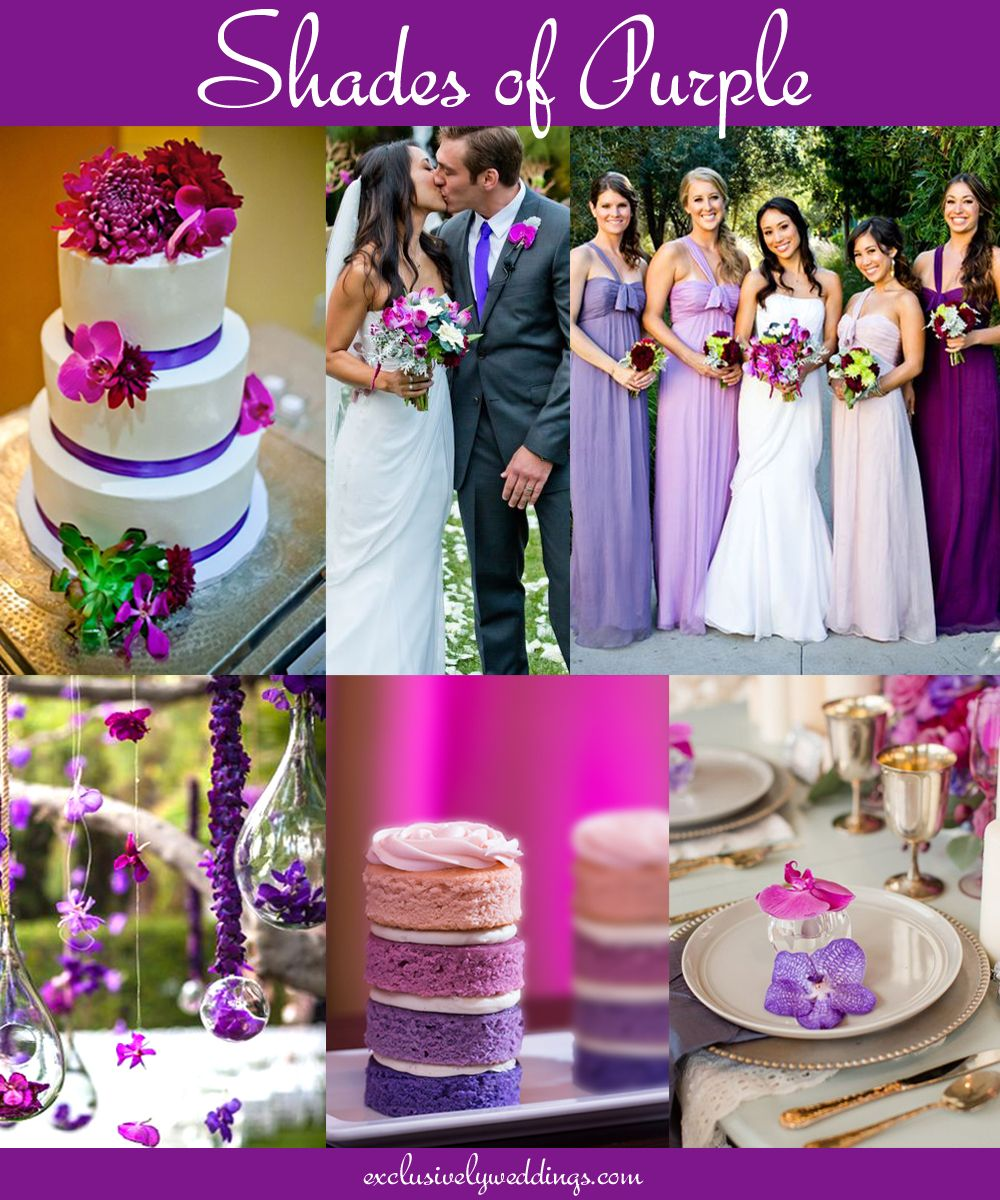 Your wedding color dont overlook five luscious shades of purple wedding planning junglespirit Image collections