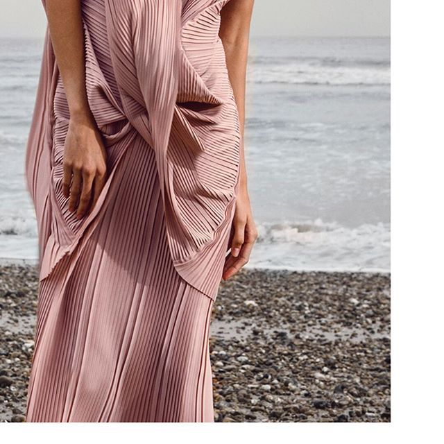 Clever little concertinas and architectural folds make for the visually stunning Olivia maxi dress  •  •  •  •  A  Q  A  Q  •  •  •  •  #aqaq #olivia #maxidress