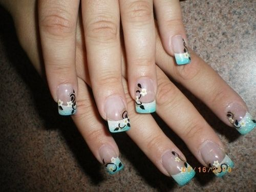 french manicure nail art