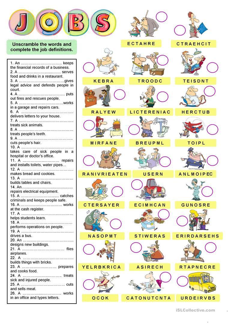 JOB DESCRIPTIONS worksheet - Free ESL printable worksheets made by ...