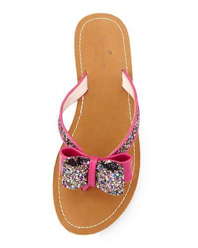 498334affa2f kate spade new york icarda glitter bow thong sandal