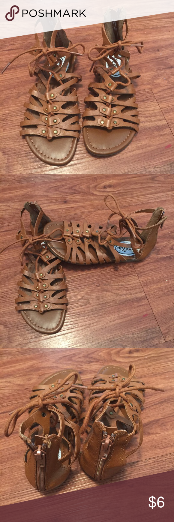 bce030594a8b 💕2 pairs of Girls Gladiator Sandals Size 13 1💕 Girls Stevie s Gladiator  Sandals BRAND NEW