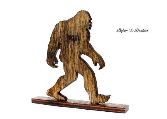 Yeti Sasquatch Big Foot Skunk Ape Laser Cut & Engraved Desk Office Award Trophy Statue