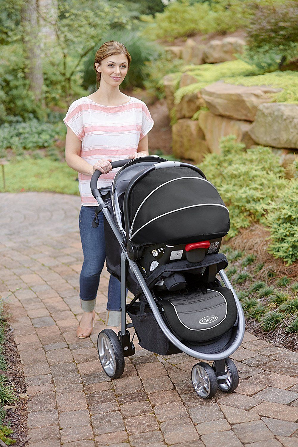 Amazon.com : Graco Aire3 Click Connect Travel System ...