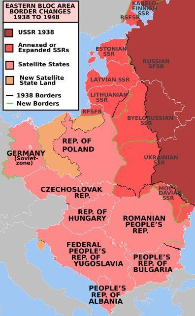 Soviet expansion change of central eastern european borders and soviet expansion change of central eastern european borders and creation of the communist eastern bloc after world war ii gumiabroncs Gallery