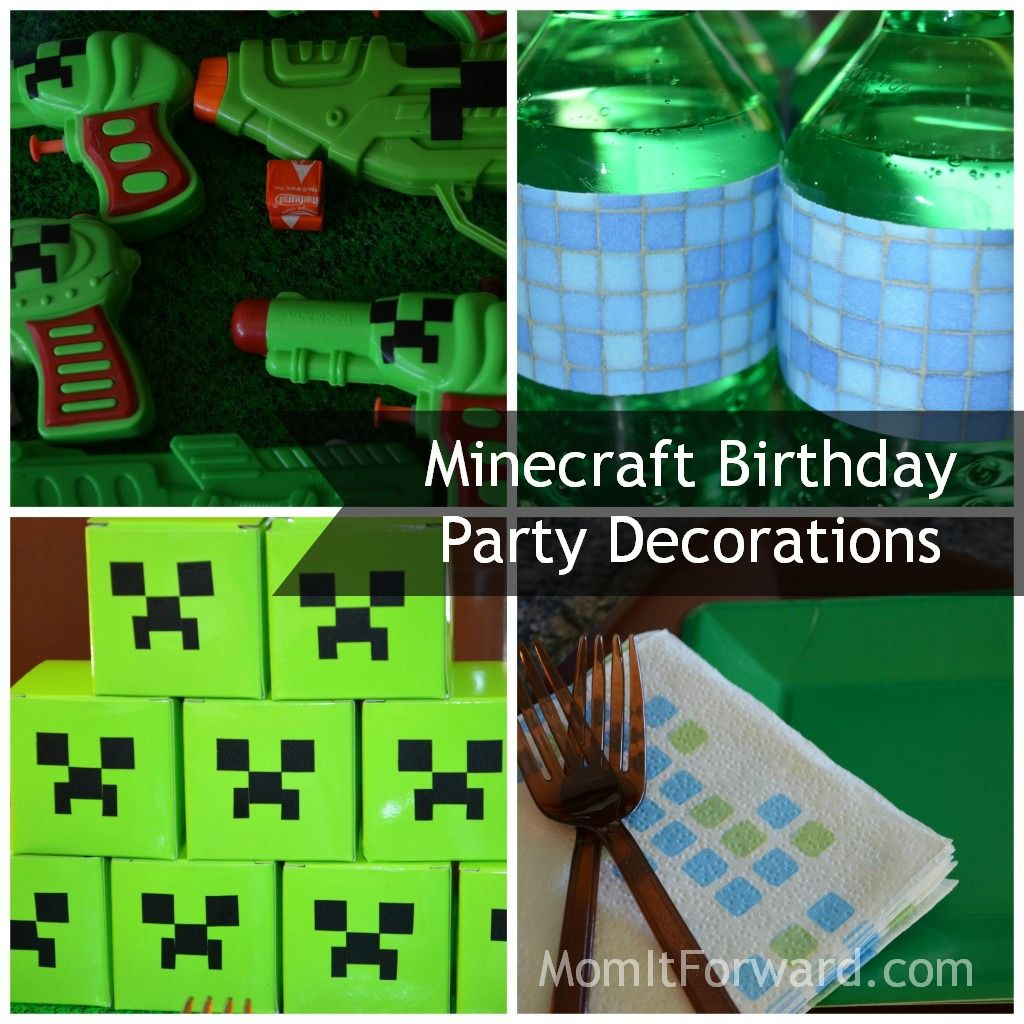 Minecraft Party Decorations 17 Best Images About Connors B Day On Pinterest Edible Cake