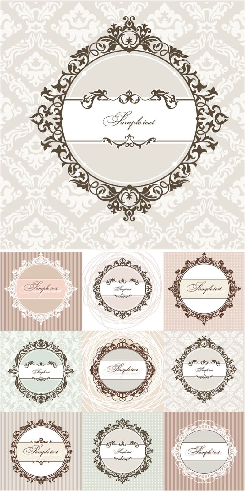 Download free vintage ornaments vintage ornaments and iders - Vintage Borders Labeling Ideas