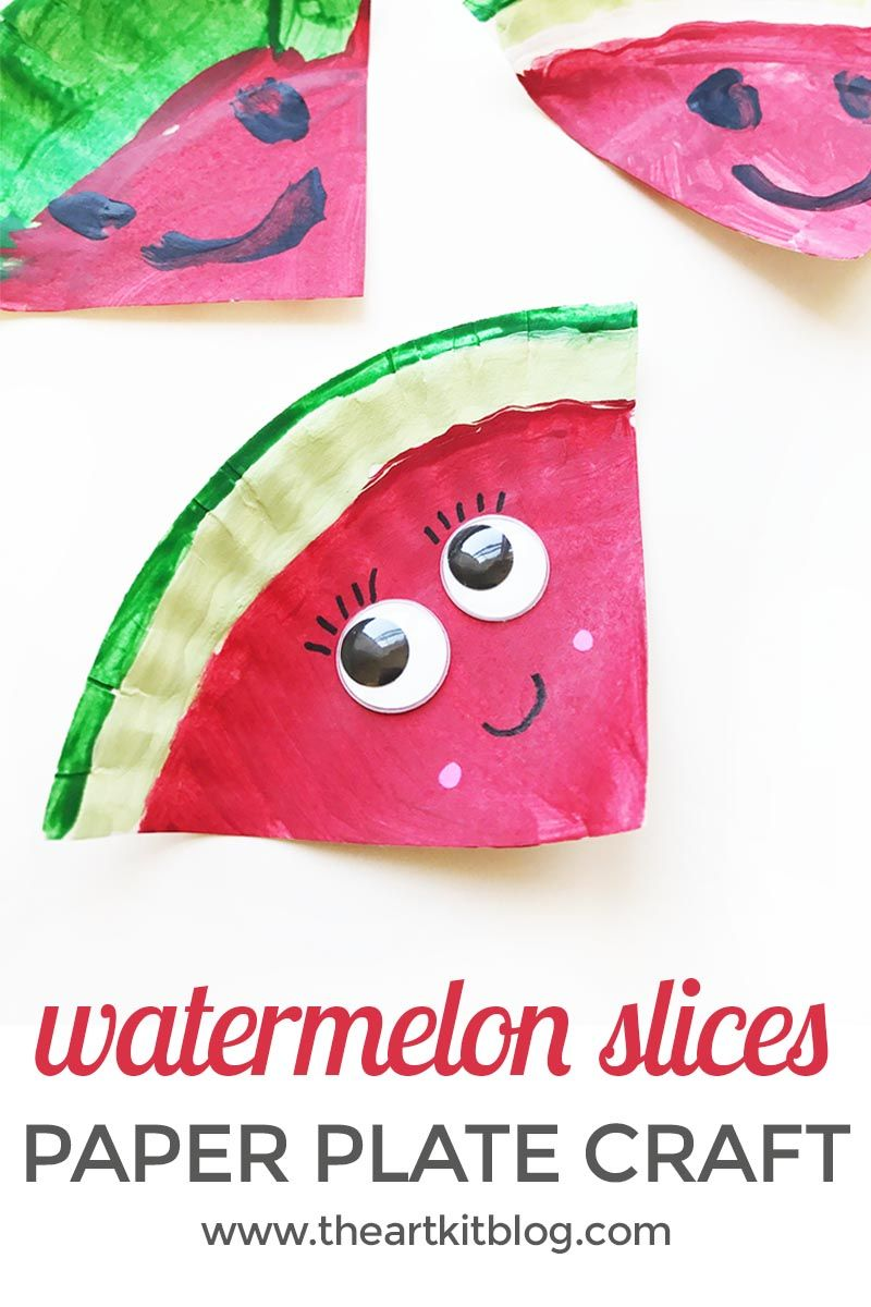 paper plate watermelon crafts kids This paper weaving fish craft is the perfect addition to your creative activities this summer they are super fun to make and a great way to introduce kids to weaving they are super fun to make and a great way to introduce kids to weaving.