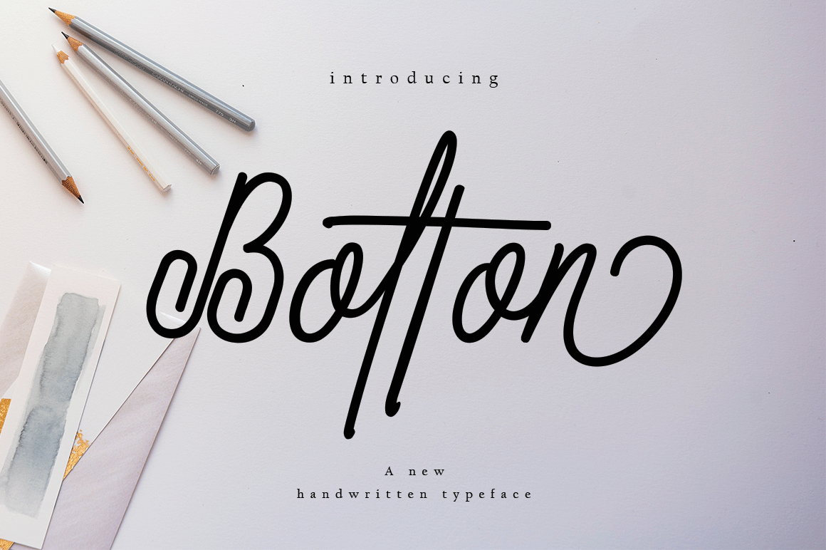 Bolton Is A Stunnig Script Font That Has A Distinctive Handwriting Making It Perfect For Modern Designs That Need A