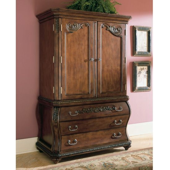 chateau frontenac armoire by ashley furniture b533 49bt furniture xo home decor pinterest. Black Bedroom Furniture Sets. Home Design Ideas