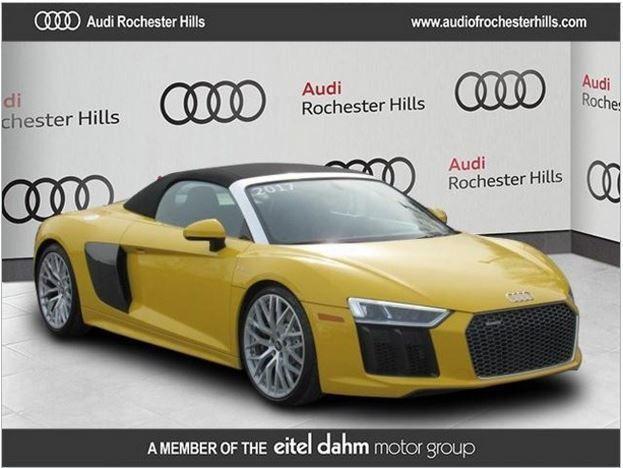 2017 Audi R8 2017 Audi R8 Spyder Quattro Vegas Yellow One Owner