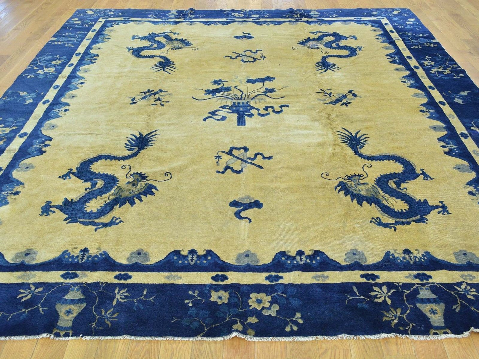 8 039 X9 039 8 034 Antique Chinese Peking Dragon Design Hand Knotted Oriental Rug G29924 Ebay Wool Area Rugs Oriental Rug Rugs