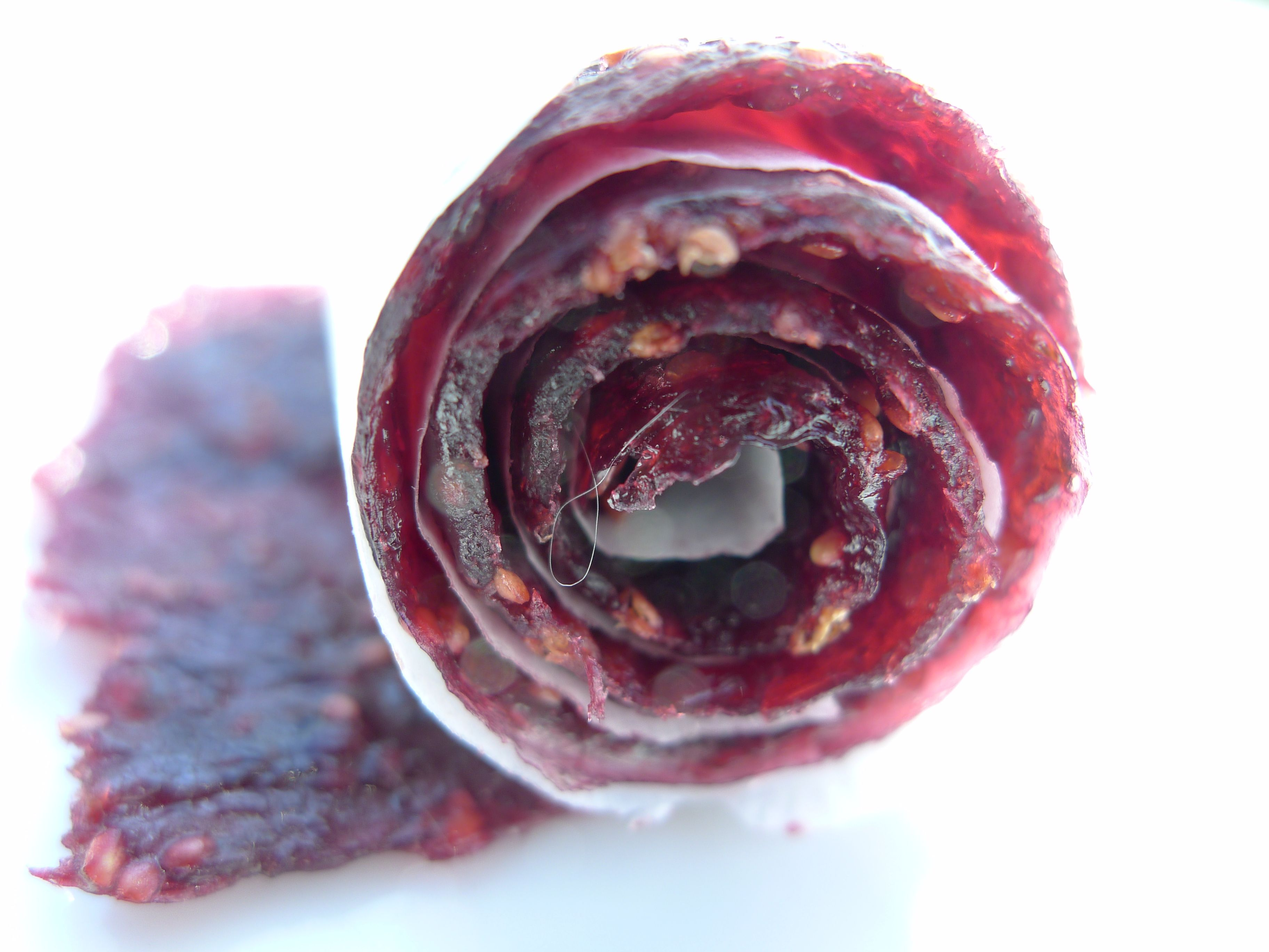 Handmade fig-blackberry fruit leather from Healthfully Ever After