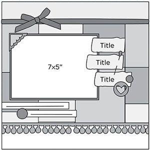 Scrapbook Page Sketch 177